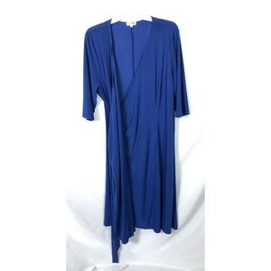 Kiyonna Blue royal blue wrap midi dress size 2